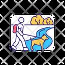 Dog Walking Icon