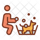 Dog Wash Trainer Coach Icon