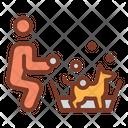 Dog Wash Trainer Coach Icon