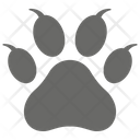 Dogs Paw Paw Print Animal Track Icon