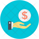Dollar Hand Investment Icon