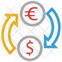 Dollar Euro Currency Icon