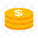 Dollar Coins Business Icon