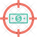 Dollar Earning Target Icon