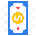 American Dollar Paper Money Currency Icon