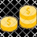 Dollar Dollar Coin Money Icon