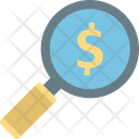 Dollar Find Investment Fundraising Icon