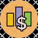 Dollar Graph Financial Icon