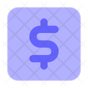 Dollar Dollar Sign Usd Square Icon