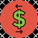Dollar Arrows Left Icon