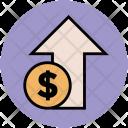 Dollar Up Arrow Icon
