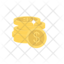 Dollar Coins Earning Icon