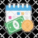 Dollar Money Calendar Icon