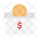 Dollar Saving Box Icon