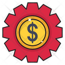 Dollar Setting Digital Icon