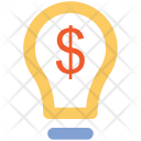 Dollar Bright Idea Icon
