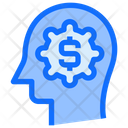Dollar Money Brain Icon