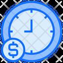 Dollar Schedule Clock Icon