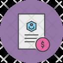 Dollar Banking Document Icon