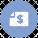 Dollar Statement Bank Icon