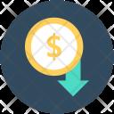 Dollar Valuation Down Icon