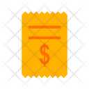 Dollar Bills Receipt Icon