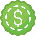 Dollar Badge Shopping Icon