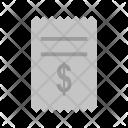 Dollar Bills Invoice Icon
