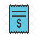 Dollar Bills Invoice Icon