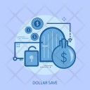 Dollar Save Locked Icon