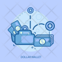 Dollar Wallet Saving Icon