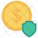 Dollar Security Shield Icon