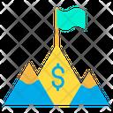 Dollar Achivement Goal Mission Icon