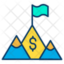 Dollar Achivement Goal Mission Icon