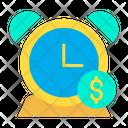 Dollar Alarm Time Is Money Clock Icon