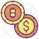 Dollar And Bitcoin Icon