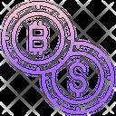 Dollar And Bitcoin Icon