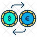Dollar And Euro Exchange Icon