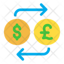 Dollar And Pound Exchange Icon