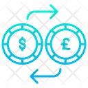 Dollar And Pound Exchange Exchange Money Dollar Icon