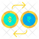 Dollar And Rupees Exchange Icon