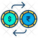 Dollar And Rupees Exchange Exchange Money Dollar Icon