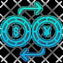 Dollar And Yen Exchange Icon