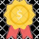 Dollar Badge Finance Reward Award Icon