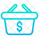 Dollar Basket Icon