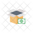 Dollar Box Parcel Box Cost Icon