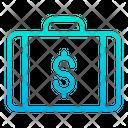 Dollar Briefcase Dollar Suitcase Money Briefcase Icon
