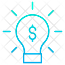Dollar Bulb Finance Idea Dollar Icon
