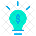 Dollar Bulb Idea Icon