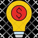 Dollar Bulb Bulb Concept Icon